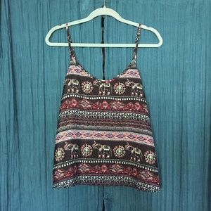 Hollister Tank Top With Elephant Print